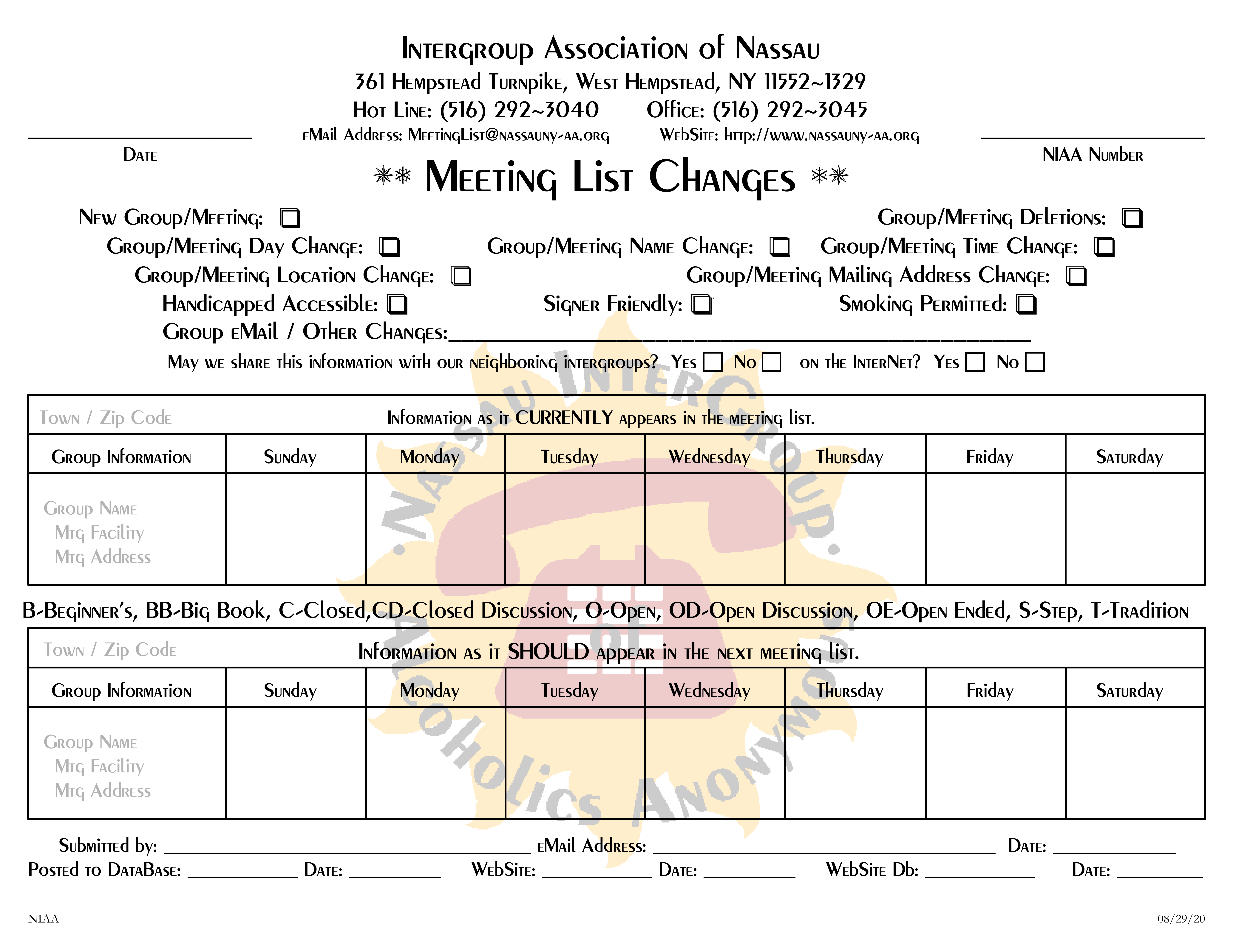 ny intergroup meeting list Meeting list for alcoholics anonymous in nassau county new york alcoholics anonymous links and information.